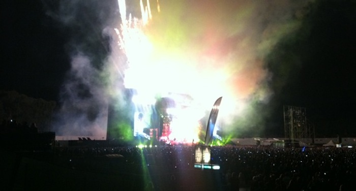 Paul McCartney blows up the stage at Outside Lands