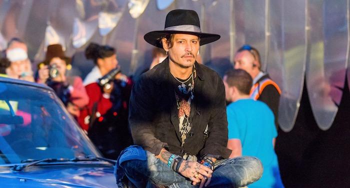 Johnny Depp At Glastonbury by Maja Smiejkowska - Best New Bands
