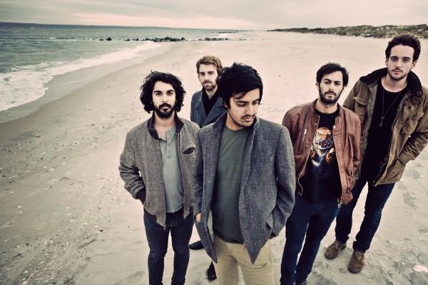 Young the Giant publicity photo Looking Up to Young The Giant