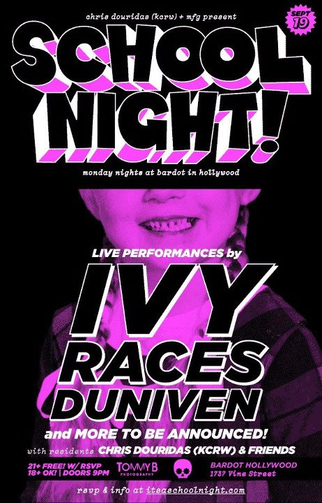 ivyposter Races and Duniven Play Bardot in Hollywood